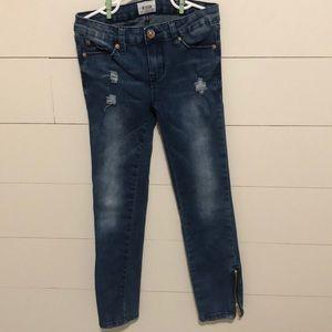 Girls Hudson skinny stretch jeans